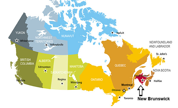 Immigration And Settlement In New Brunswick Canada - Map of new brunswick canada